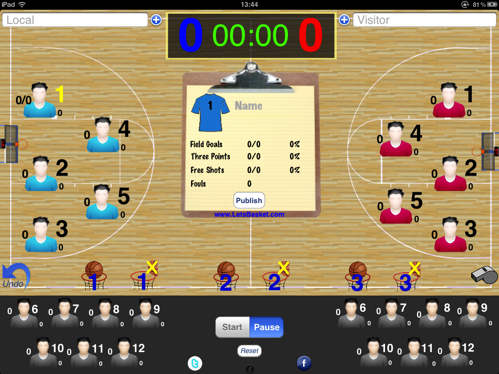 Version 1.1 of Letsbasket available at the AppStore